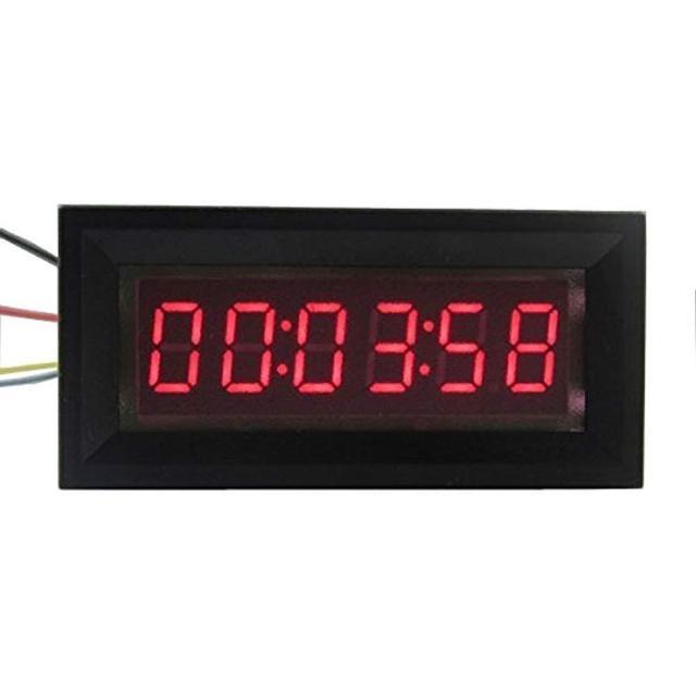 LED dijital zamanlayıcı toplayıcı saat kronometre endüstriyel metre Panel dijital saat 6 bit 12V F/gerilim akım ölçümü
