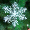 30Pcs/Kits Christmas Tree White Snowflake Charms Holiday Party Festival Ornaments Decor Bulk Snow Christmas Decorations For Home