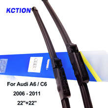 Windshield front wiper blade for Audi A6 C5 C6 C7 windscreen rear wiper car accessories Fit Hook / Slider / Claw / Push Button new arrival 2pcs 22 universal front window windshield wiper blade for audi a4 s4 a6 c6