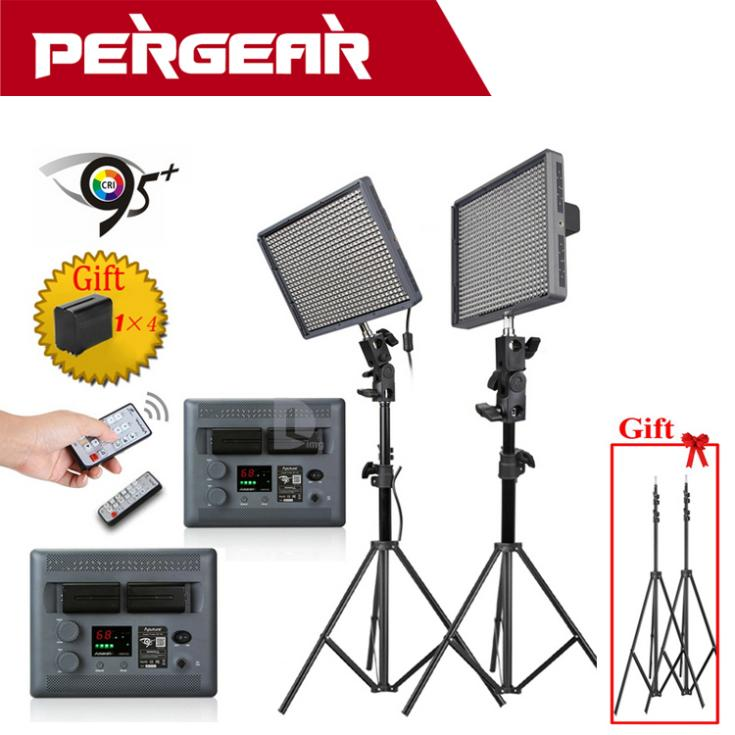 Aputure Amaran HR672C 95 + LED Studio Video Luce Temperatura di Colore Regolabile + 2.4G Wireless Remote + Batterie Luce basamento come Regalo