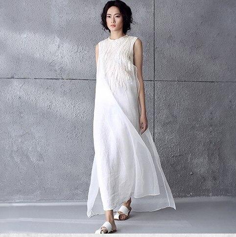 women plus size linen cotton vintage maxi dress vintage. Black Bedroom Furniture Sets. Home Design Ideas
