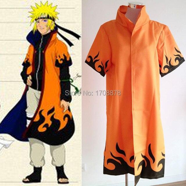 Anime Naruto Cosplay Costume NARUTO Uzumaki 6th Hokage Cloak Clothing Unisex Robe Cape Dust