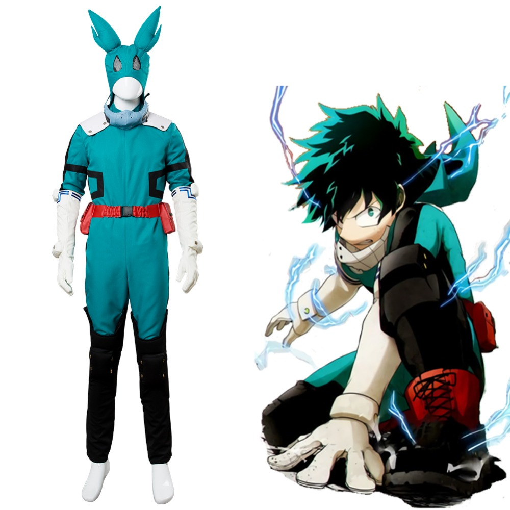Boku no Hero Academia My Hero Academia Season 2 S2 Izuku Midoriya Battle Suit New Version Cosplay Costume