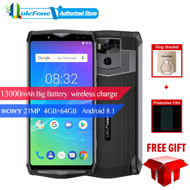 "Ulefone Puissance 5S Smartphone 4g LTE Téléphone 13000 mah 6.0 ""FHD MTK6763 8 Core Android 8.1 4 gb RAM 64 gb ROM 21MP Face D'empreintes Digitales ID"