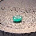 Promoción natural Esmeralda piedra floja forma oval 0.6 ct ct 1.2 natural Colombia esmeralda piedra floja para el anillo