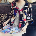 2017 New Arrival Real Mink Fur Coat Warm Luxury Patchwork Multi Colors Genuine Mink Fur Jacket Fashion Overcoat Hot Sale DFP974