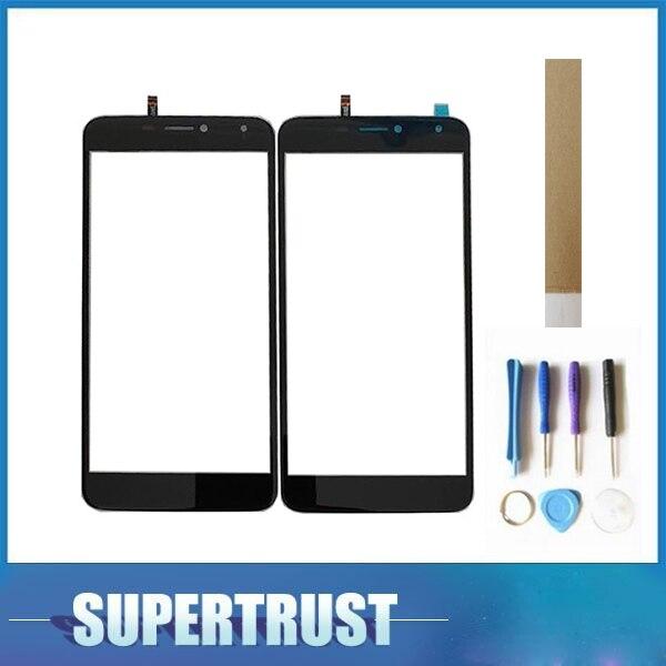 Para BQ Mobile BQS-5520 Mercury BQS 5520 BQS5520 pantalla táctil digitalizador Lente de Cristal frontal Sensor de color negro con herramientas