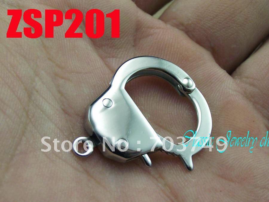 Petites menottes forme acier inoxydable collier pièces bracelet connexion bijoux accessoires ZSP201