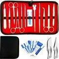 22 Pcs Erweiterte Dissektion Kit Für Anatomie Biologie Medizinische Student Kit Mit Skalpell Messer Griff-11 Klingen-Fall -labor Veter