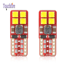 100PCS Auto T10 W5W 194 Canbus No Error Car Bulb 8LED Clearance License Plate Reading Door Light 12-24V Dropship Wholesale
