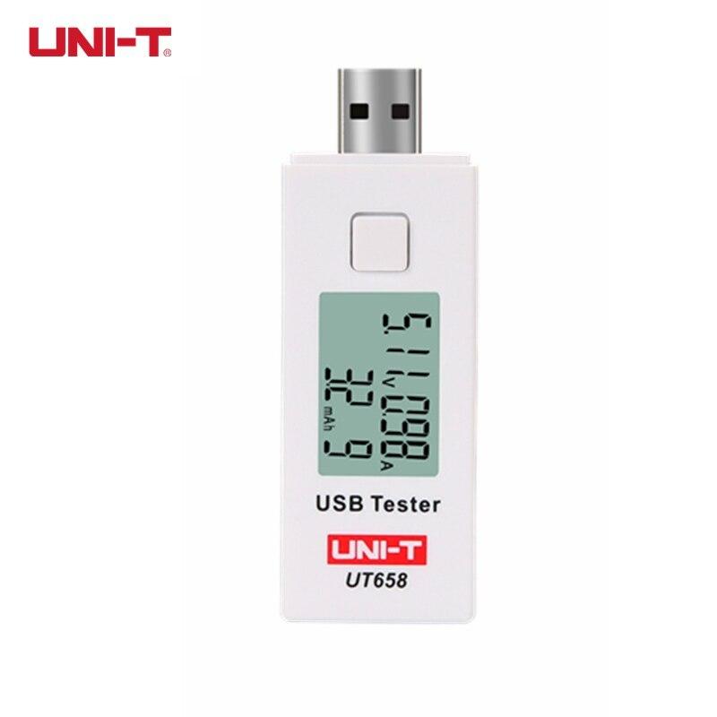 UNI-T UT658 UT658B USB testeador voltímetro amperímetro Digital LCD Monitor de voltaje actual del medidor probador de la capacidad de la 9 V 3A con luz de fondo