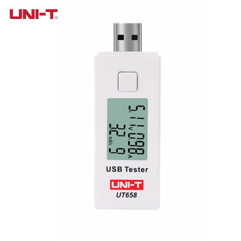 Uni-t ut658 ut658b USB tester voltímetro amperímetro digital LCD voltaje Monitores corriente capacidad 9 V 3a con luz de fondo