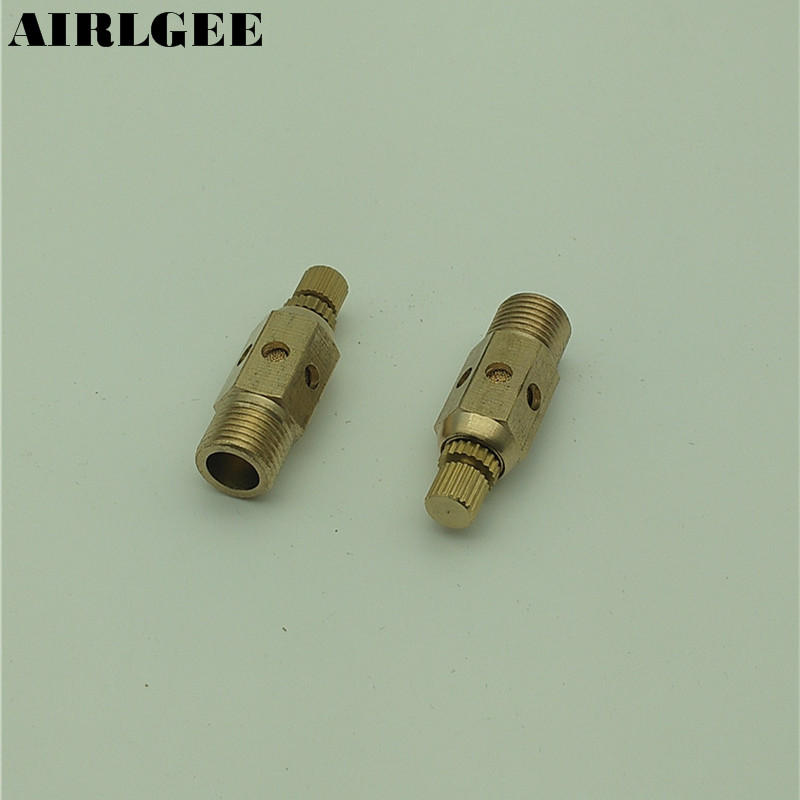 2 x Adjustable 1/8 PT Thread SC Sintered Bronze Exhaust Muffler Throttle Valve 3 x adjustable 1 4 pt thread sc sintered bronze exhaust muffler throttle valve