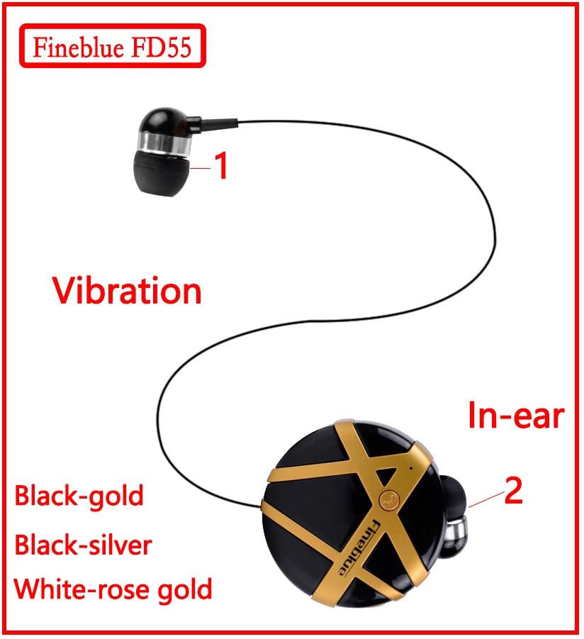 Fineblue FD55 Mini Fone De Ouvido Bluetooth Moda Fone de Ouvido Portátil Fones De Ouvido Noise-canceling Vibração para Lembrar