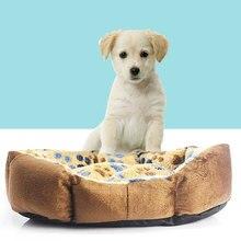 Warm Soft Footprint Dog Cat Puppy Kennel Bed Sofa Mat Pad Cage Nest Cushion