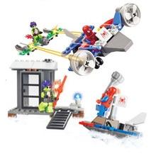 цена на Legoingly Super Heroes Marvel Figures Captain American The Hulk Spiderman Iron Man  Building Blocks Bricks For Children Toys