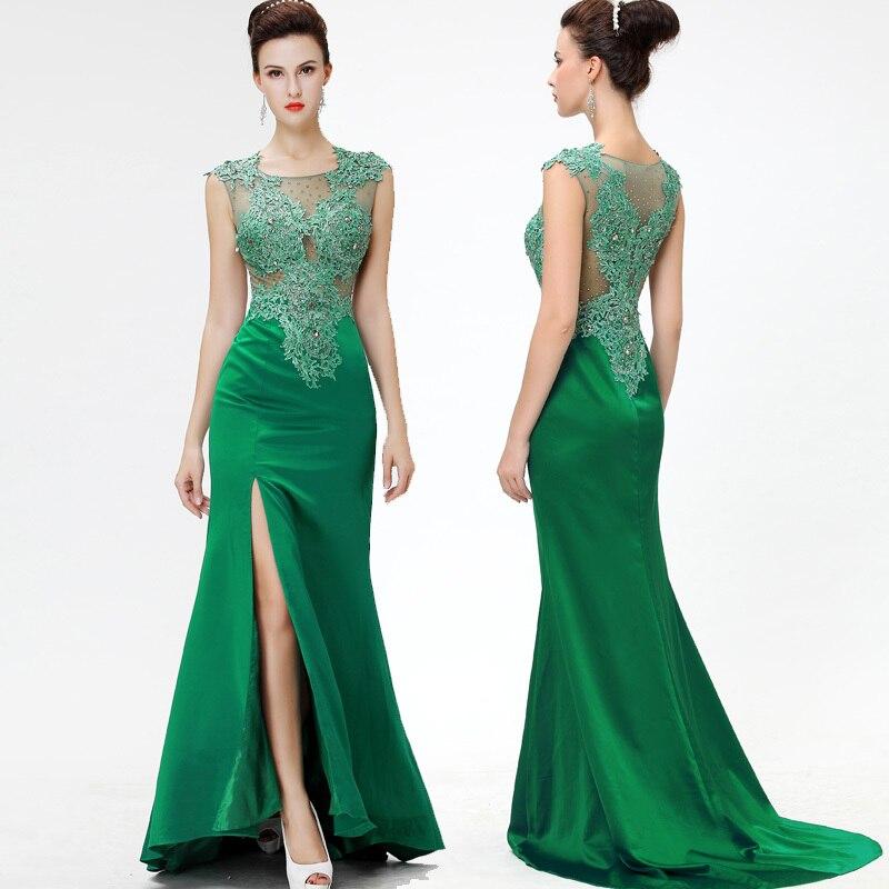 Top Grade Stain Court Train Long Evening Dress Mermaid Elegant