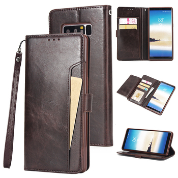 Retro Leather Case For Samsung Galaxy S10 S9 S8 Plus S10E S7 S6 edge S5 Note 10 10+ 8 9 5 Card Wallet Cover Business Phone Case 1