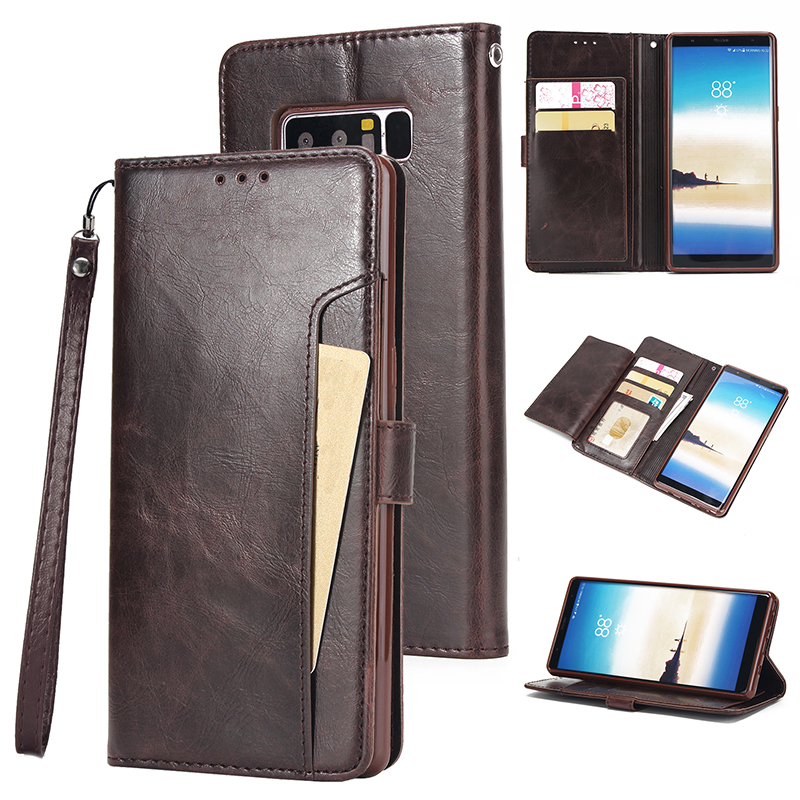 Retro Leather Case For Samsung Galaxy S10 S9 S8 Plus S10E S7 S6 edge S5 Note 10 10+ <font><b>8</b></font> <font><b>9</b></font> <font><b>5</b></font> Card Wallet Cover Business Phone Case image