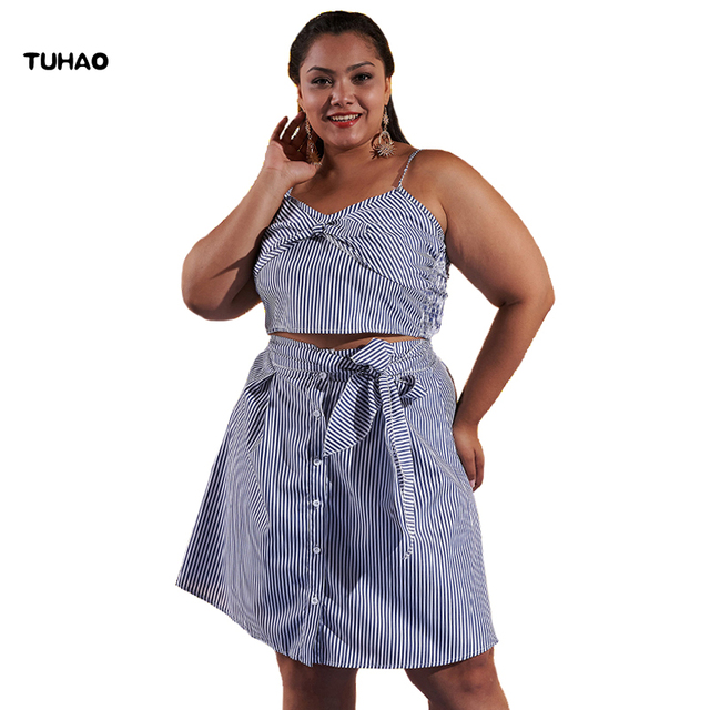 TUHAO 4XL 3XL Plus Size Dresses for Women 2018 women\'s sweet Two ...