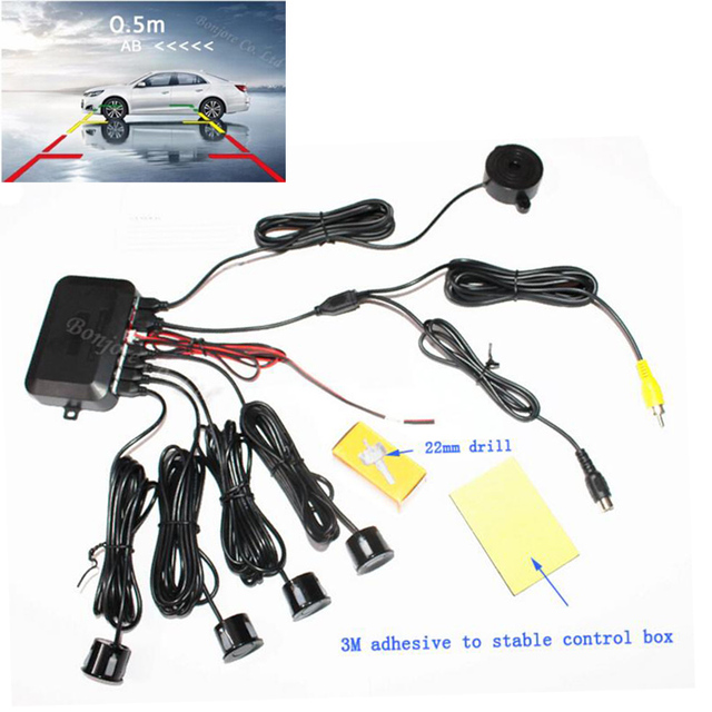 Dual Core CPU Car Video Parking Sensor Reverse Backup Radar Assistance Show distance on Auto parking Monitor Digital Display