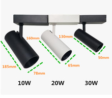 COB LED 3 lines Track Light Lamp 10W 20W 30W Lighting Fixtures Spotlights Ceiling Lights 240V for Store Exhibition