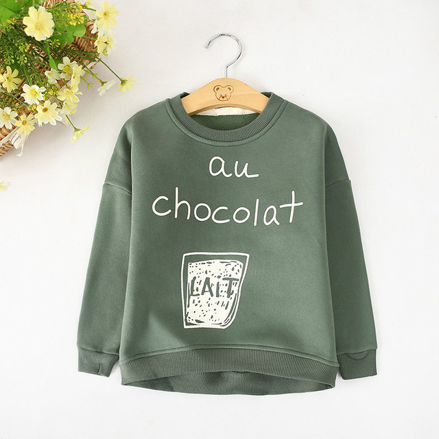 2019 Fashion Autumn Winter Sweatshirt Boys Kids Child Girls T Shirts Long Sleeve Letter Printed Baby Toddlers Clothes Tops
