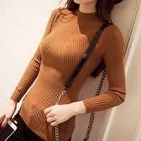 Han Guodong portes robe usine en gros pull à col roulé femelle demi manches dames mince chemise