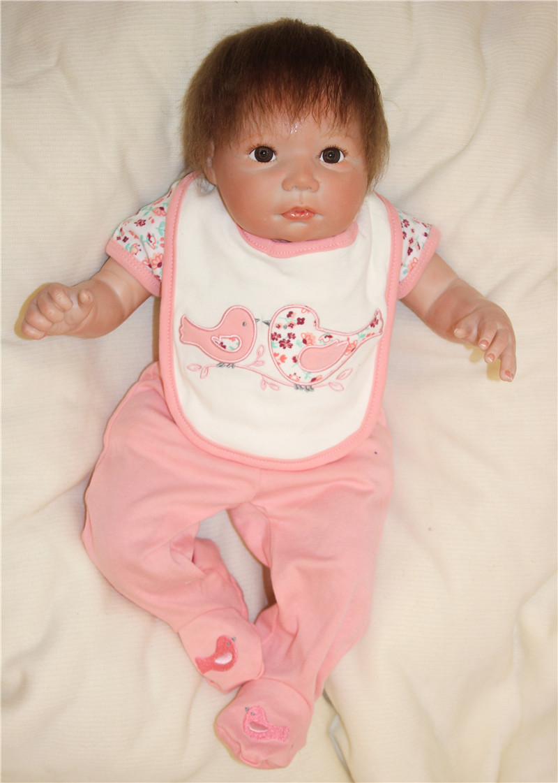 Newest doll reborn 18 48cm silicone reborn babies fake baby doll soft cotton body with pacifier bebe real reborn bonecasNewest doll reborn 18 48cm silicone reborn babies fake baby doll soft cotton body with pacifier bebe real reborn bonecas