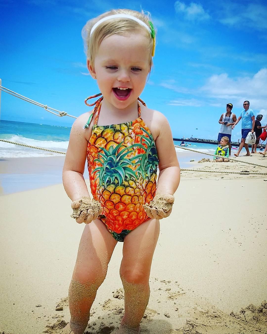 2018 Pineapple Girls Kids Swimming Costume Bikini Set Bathing Sleeveless Bodysuit Pineapple Swimsuit Swimwear Clothing 1 6Y-in Bodysuits from Mother u0026 Kids ...  sc 1 st  AliExpress.com & 2018 Pineapple Girls Kids Swimming Costume Bikini Set Bathing ...
