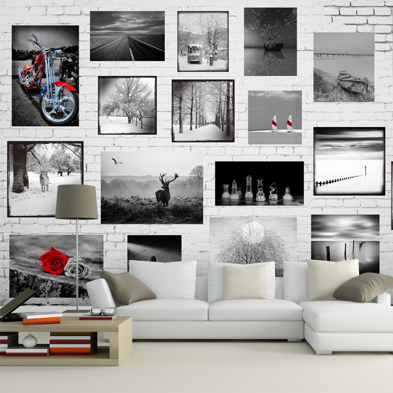 Custom mural 3D non-woven wallpaper TV living room bedroom dining room hotel sofa background black white photo wallpaper mural custom 3d room mural wallpaper non woven wallpaper senery red maple forest photo living room tv backdrop bedroom photo wallpaper