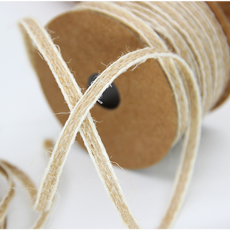 Image 5 - 10M/Roll Width 0.5cm Jute Burlap Rolls Hessian Ribbon With Lace Vintage Rustic Wedding Decoration Ornament Party Wedding Decor-in Party DIY Decorations from Home & Garden