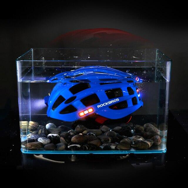 Rockbros luz ciclismo capacete da bicicleta ultraleve capacete integralmente moldado seguro 57-62cm mountain road bicicleta mtb capacetes 5