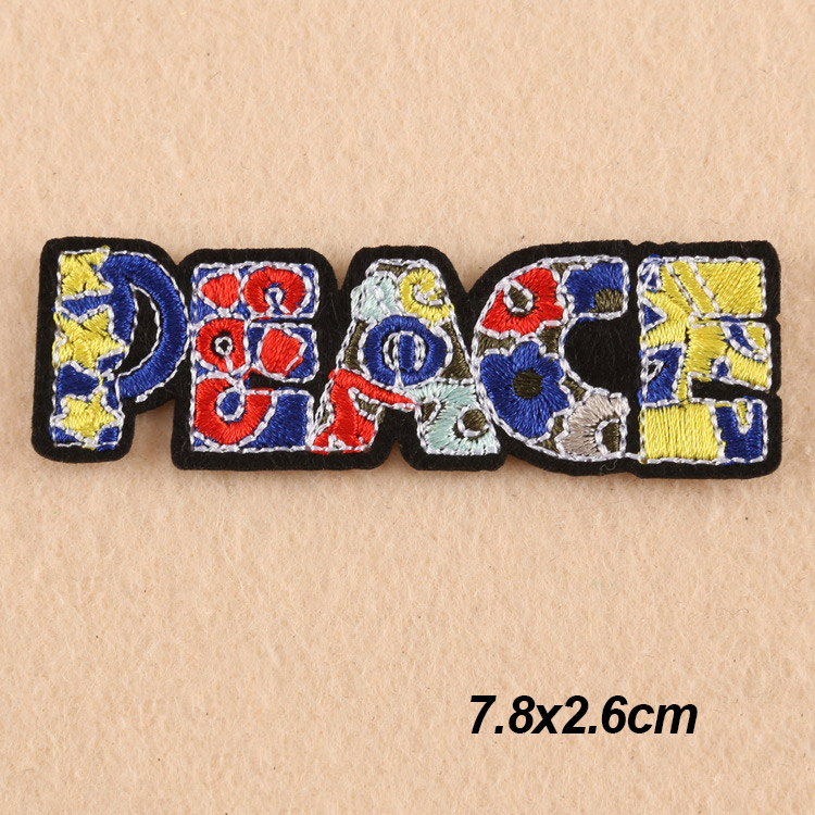 Iron On Embroidery Applique Patch Sew Iron Badge Blue Glitter Okay Text