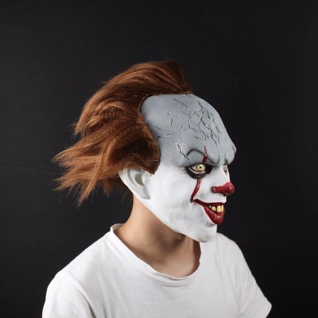 hot movie stephen kingu0027s it mask cosplay costume scary clown pennywise full face head latex helmet