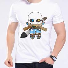 Novelty Mens Summer T Shirt Video Game Undertale Kawaii Inktale Sans Skull Tshirts Fancy Print Cool T Shirt For Men Hip HopL1D7