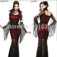 VẬN CHUYỂN MIỄN PHÍ Ladies Sexy Phòng Goth Ma Cà Rồng Vixen Halloween FancyDress Đảng Costume Outfit