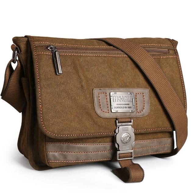 Retro Canvas bag men shoulder bags leisure wear resistant cross messenger bag Unisex casual crossbody Bags Leisure Package