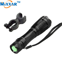 zk90 4000Lumens CREE XML-T6 LED Flashlight LED Bicycle Torch Focus Lamp Zoomable Lights + Holder For Hunting Biking