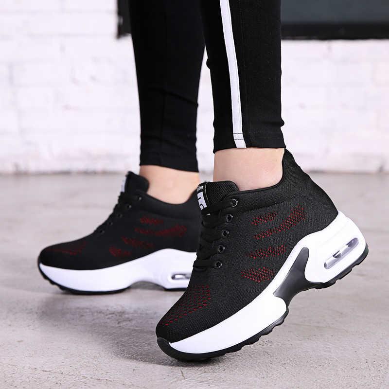 NORTHMARCH 2019 yeni Platform Sneakers ayakkabı nefes alan günlük ayakkabılar kadın moda yüksekliği artan bayanlar ayakkabı Chaussure Femme