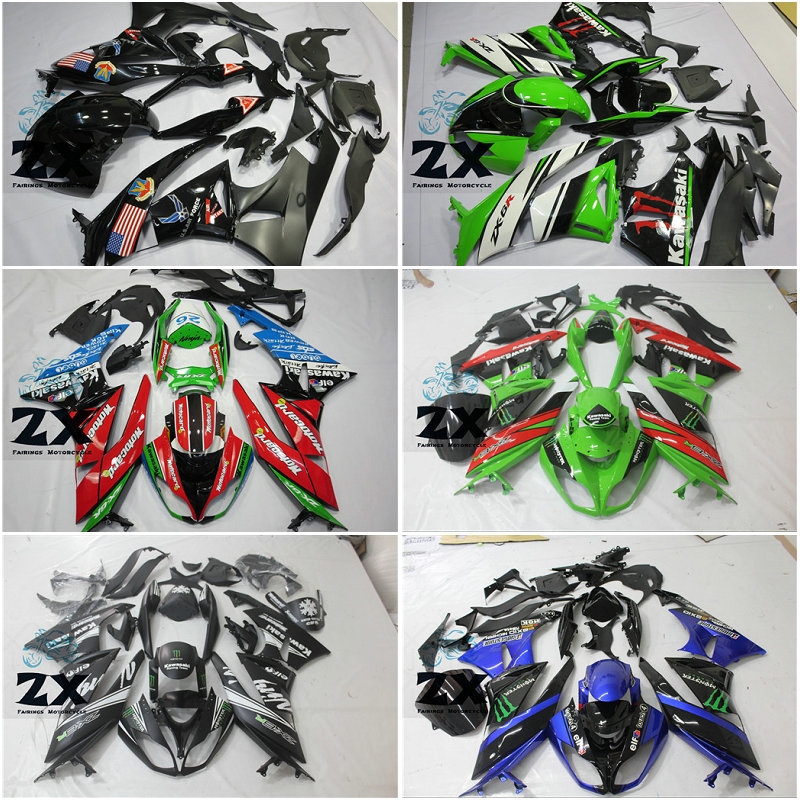 injection fairings for Kawasaki Ninja ZX 6R 2009 2010 2011 2012mold ZX6R 09 10 11 ZX-6R Fairing kit free windscree steering damper stabilizer bracket mounting holder for kawasaki ninja zx6r zx 6r 2009 2016 2010 2015 gold