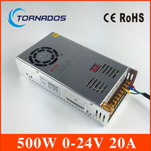 power supply 0-24V 500W switching power supply transformer Adjustable Led Strip Control Led Switch LED Display LS-500-24