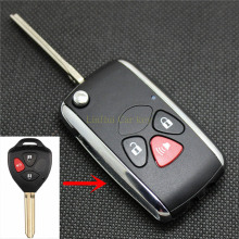 PINECONE Key Case for TOYOTA CAMRY REIZ COROLLA RAV4 Car Key 3 Buttons Modified Remote Key Shell Cover 1 PC soft tpu car key case cover keychain for toyota avalon 8 camry 2019 levin ioza chr