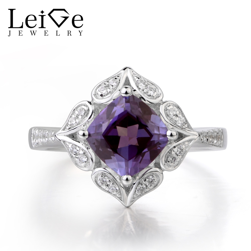 Leige Jewelry Alexandrite Wedding Ring June Birthstone Ring Solid 925 Sterling Silver Color Changing Gems Fine Jewelry for WomenLeige Jewelry Alexandrite Wedding Ring June Birthstone Ring Solid 925 Sterling Silver Color Changing Gems Fine Jewelry for Women