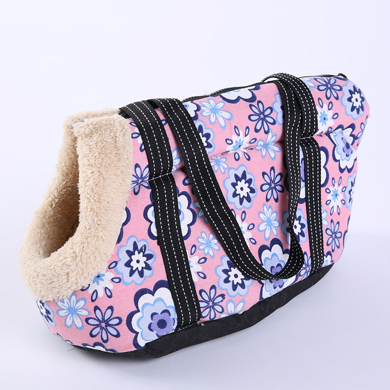 Fashion Outdoor Travel Pet Sling Bag Cute Flower Pet Carrier For Small Dogs Soft Cozy Puppy Cat Dog Bags Backpack