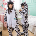 2017 new Animal cute Zebra Flannel Pajamas Children soft Onesies Unisex robe baby kids clothes Boys Girls Sleepwear Pyjama