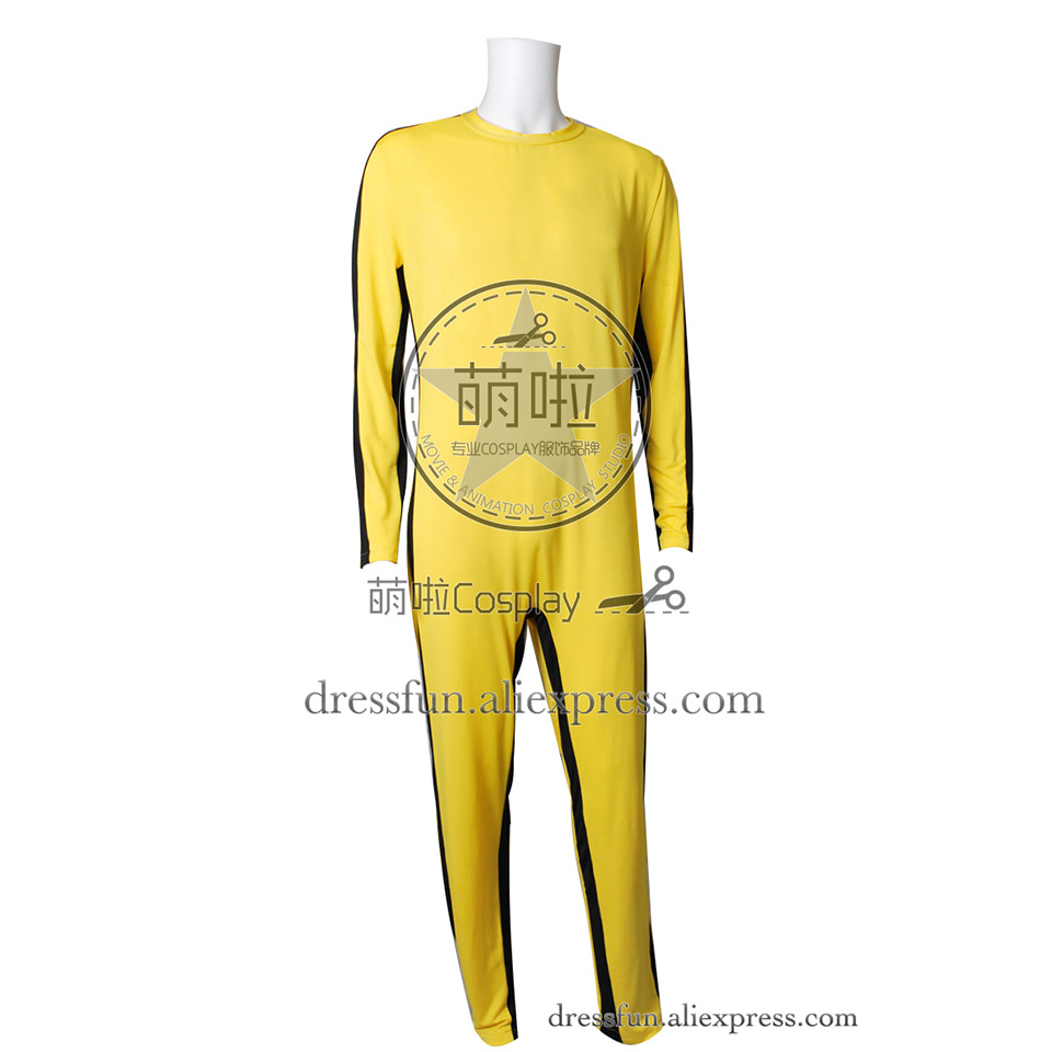 The Game of Death Cosplay Bruce Lee Costume Jumpsuit Yellow Clothing Party Comfortable Halloween Cool Fast Shipping