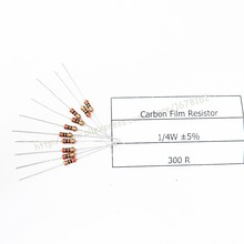 Free shipping cost 100pcs/lot 300 ohm 1/4W Resistor axial carbon film 0.25W 5% 300R(China (Mainland))