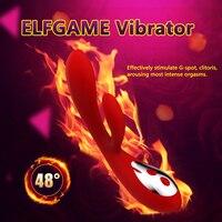 Elfgame Siliconen Verwarming Vibrator Voor Vrouwen 32 Frequentie Krachtige G-spot Clitoris Stimulator Dildo Erotische Seksspeeltje Volwassen Producten
