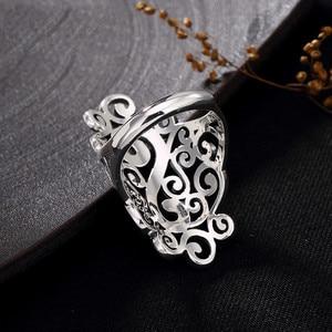 Image 5 - V. ya retro 925 prata esterlina anéis ajustáveis para mulher letra s femme feminino anel marcasite jóias